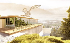 Picture mountains, design, house, neuberger worlds, bergstation