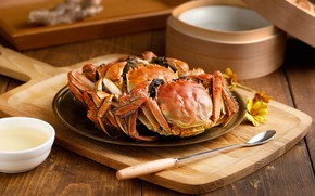 Picture flowers, crab, sauce, seafood