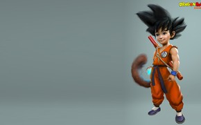 Picture fiction, anime, art, guy, dragon ball, Kid Goku, Carl Ellis