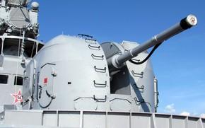 Picture artillery, ship, AK-100, single-barreled
