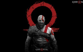 Picture logo, demigod, armor, Kratos, God of War, general, Spartan, angry, god, strong, fury, muscular, thorax, …