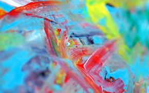 Wallpaper rainbow, paint, palette, drawing