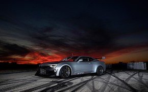 Picture the evening, Chevrolet, Camaro, twilight, ZL1, GT4 R