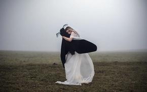 Picture dream, girl, fog, mood