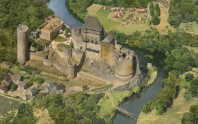 Picture river, castle, camp, Money Shots, Age of Empires