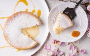 Picture pie, cakes, piece