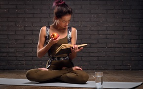 Picture book, yoga, exercises, healthy food, Intellect