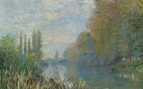 Picture landscape, nature, picture, Claude Monet, Claude Monet, The Banks Of The Seine In Autumn