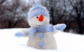 Picture toy, new year, snowman