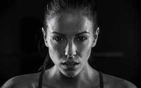 Picture brunette, Melissa Riso, Perspiration, female athlete