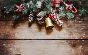 Picture New Year, Christmas, wood, merry christmas, decoration, fir tree