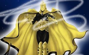 Picture magic, cloak, DC comics, helm, Doctor Fate, Dr. Fate