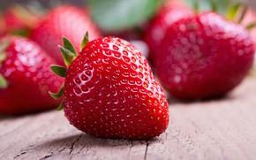 Picture strawberry, berry, ripe strawberries