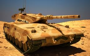 Wallpaper Merkava, 3Ds, MAX, tank, combat, Israel