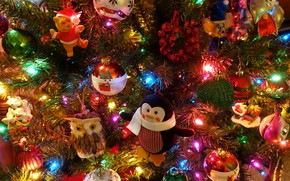 Picture decoration, toys, Christmas, New year, tree