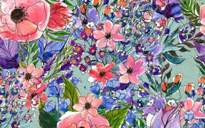 Picture Flowers, pattern, pattern, seamless, Floral