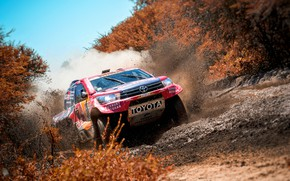 Wallpaper Auto, Sport, Machine, Speed, Race, Dirt, Puddle, Squirt, Toyota, Hilux, Rally, Dakar, Dakar, SUV, Rally, ...