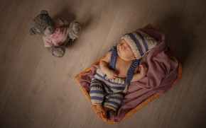 Picture hat, toy, sleep, baby
