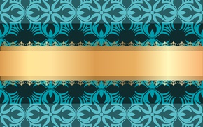 Picture background, pattern, vector, texture, ornament, vintage, gold ribbon