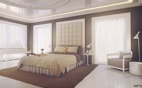 Picture light, furniture, the room, furnished, Bedroom design