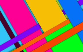 Picture figure, bright colors, layers