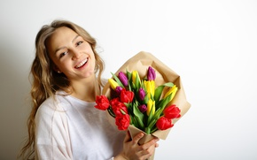 Picture flowers, colorful, tulips, love, romantic, tulips, gift