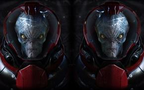 Picture aliens, Fantasy, two, portrait
