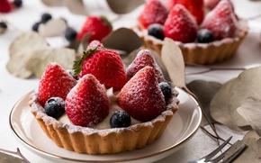 Picture berries, strawberry, cake, dessert