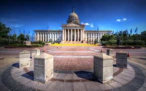 Picture HDR, area, USA, Palace, Capitol, Oklahoma State Capitol