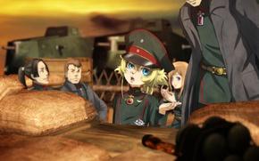 Picture girl, soldier, chaos, military, war, anime, chibi, man, cap, blonde, asian, manga, tank, oriental, asiatic, …