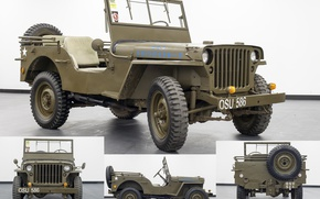 Picture war, car, army, high, patency, times, Willys MB, The second world