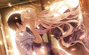 Picture romance, art, two, kuro, chrono clock