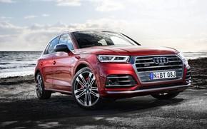Picture sea, Audi, Audi, crossover, coast