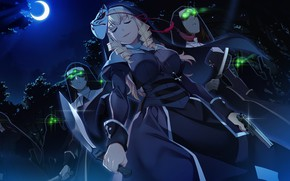 Picture night, girls, robes, Grisaia: Phantom Trigger