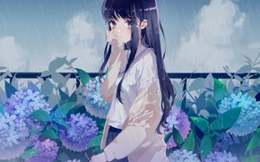 Wallpaper girl, background, anime