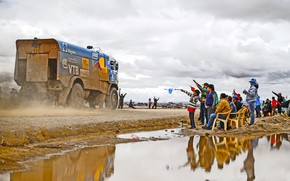 Picture Grass, Dust, Sport, Speed, Children, Clouds, Race, Master, Dirt, Puddle, Squirt, Russia, Kamaz, Rally, Dakar, …