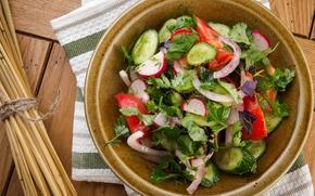 Picture vegetables, salad, ingredients