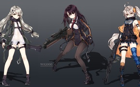 Picture gun, weapon, anime, sniper, rifle, japanese, oriental, asiatic, machine gun, bishojo, asin, Girls Frontline