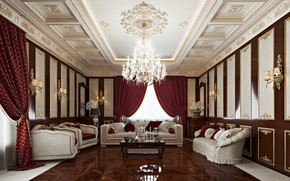 Picture interior, House, hall, the room, livingroom