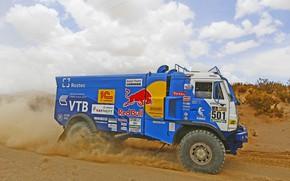Picture Grass, Dust, Sport, Speed, Race, Master, Dirt, Day, Squirt, Russia, Kamaz, Rally, Dakar, Dakar, Rally, …