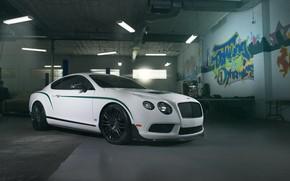 Picture Bentley, White, Garage, GT3R
