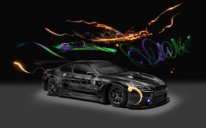 Wallpaper Car, Art, 2017, German, BMW GT3, BMW M6 GT3, Light, Auto, BMW M6, Art, BMW, ...