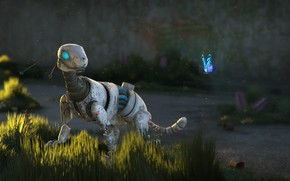 Picture butterfly, robot, art, animal, Sci-Fi