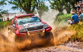 Wallpaper Sport, Speed, People, Race, Dirt, Lights, Toyota, Hilux, Rally, Dakar, Dakar, Rally, Sport, Hilux, The ...