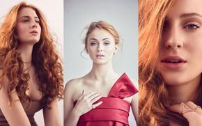 Picture look, girl, decoration, face, hair, ring, Sophie Turner, Sophie Turner