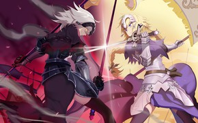 Picture weapons, girls, the opposition, anime, Fate / Grand Order