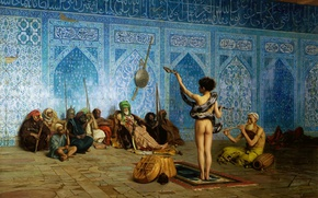 Picture picture, genre, Jean-Leon Gerome, Tamer Of Snakes