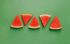 Picture green, watermelon, green background, background, watermelon
