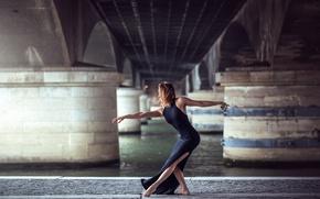 Picture girl, dance, dress, grace, Eva