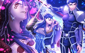 Picture anime, art, guy, Fate Stay Night, Fate/Stay Night, Lancer, castor